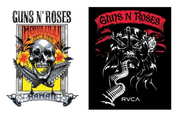 【RVCA×Guns N Roses】